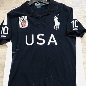 Polo Ralph Lauren USA logo polo shirt sz XL